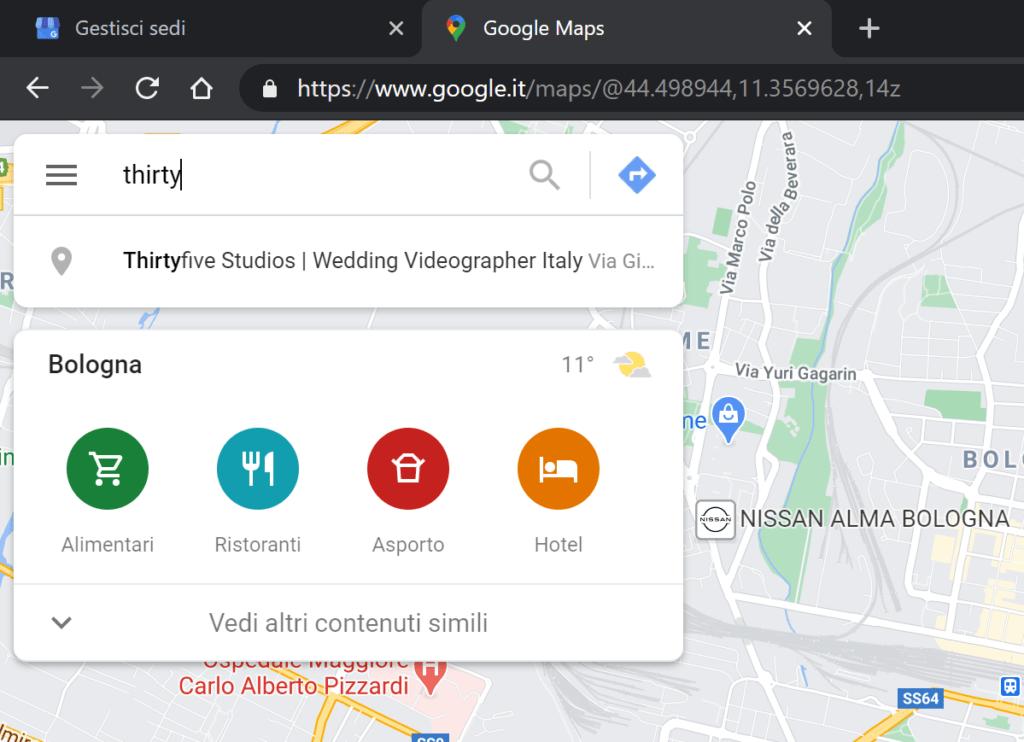 profilo attività maps
