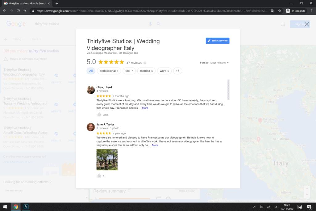 ottenere le recensioni dei clienti su google my business