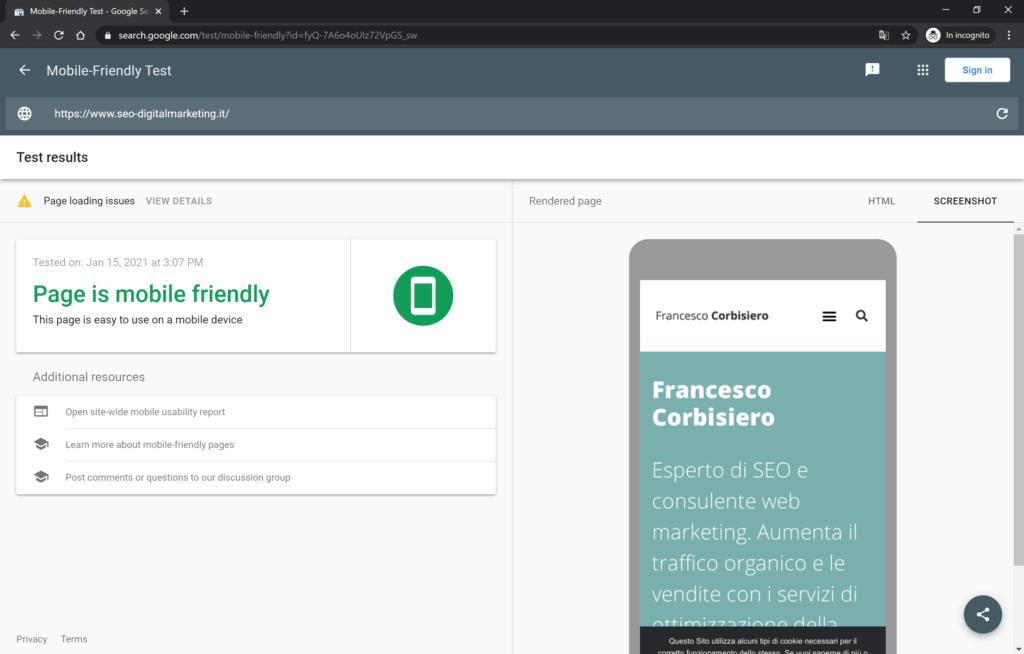 sito mobile friendly