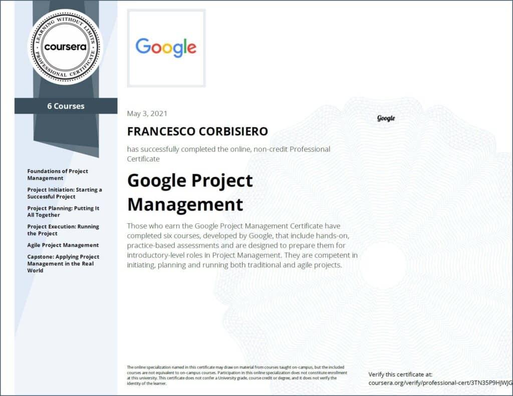 Project management francesco corbisiero